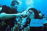 Подводную вечеринку с шампанским предлагает Anantara Kihavah Villas. // anantara.com