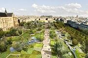 Сад в квартале Лез-Аль откроется в декабре. // paris.fr