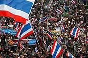 Многотысячные демонстрации проходят в Бангкоке. // newsru.com
