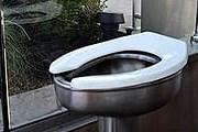 Прозрачный туалет в Салфер-Спрингс // nbcnews.com
