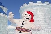 Снежный человечек Бономм - символ карнавала. // Carnaval de Quebec