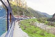 """""""Голубой поезд"""" в пути. // montenegroholidays.com"""