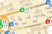 Фрагмент карты Перми с положением транспорта // Travel.ru