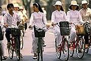 Велосипеды популярны у туристов в Ханое. // vietnam-times.ru