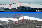 Ледник теряет снежный покров. // scribol.com
