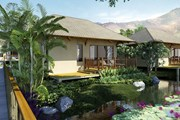 Виллы отеля стоят над водой живописного озера. // novotel.com