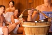 Посещение бани зимой особенно приятно.