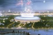 "Вид на стадион ""Лужники"" во время ЧМ по футболу 2018 года."