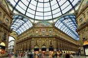 Стеклянный купол над галереей Виктора Эммануила II в Милане