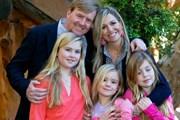 Король Виллем-Александр с семьей