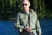 Владимир Путин на отдыхе - рыбалка в республике Тыве