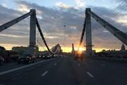 С Крымского моста открывается вид на достопримечательности Москвы. // Ivtorov , wikipedia.org