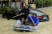 Итальянские дороги затоплены. // EPA