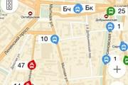 Фрагмент картыс отображением движения транспорта // Travel.ru