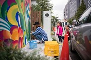 На улицах Теннодзу разрешают рисовать и туристам. // visitjapan.ru