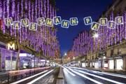 Бульвар Осман впервые за 20 лет засиял новогодними огнями. // galerieslafayette.com