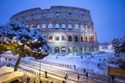 Рим и Милан - в снегу. // express.co.uk