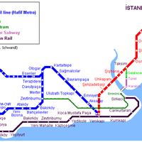 Схема метро в Стамбуле