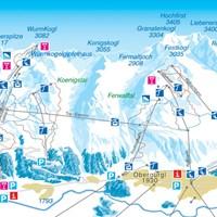 Схема трасс Обергургля (Тироль)