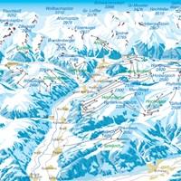 Схема трасс долины Циллерталь (Тироль)