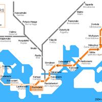 Схема метро в Хельсинки