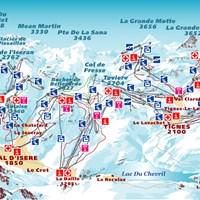 Схема трасс в Валь-д'Изер и Тинь