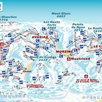 Схема трасс в Морзин и Авориа