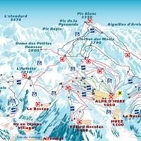 Схема трасс в Альп-д'Юэз