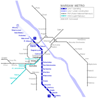 Схема варшавского метрополитена