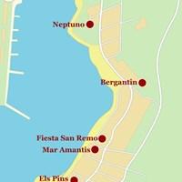 Карта курорта Сан-Антони