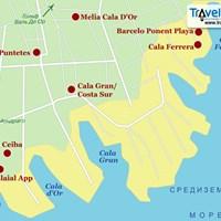 Карта курорта Кала-де-Ор