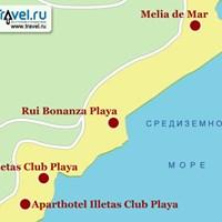 Карта курорта Ильетас
