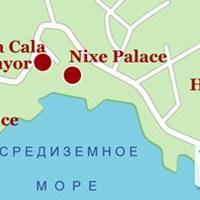Карта курорта Кала-Майор