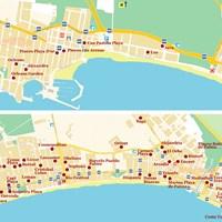 Карта курорта Плая-де-Пальма