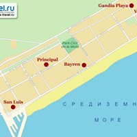 Карта Гандии