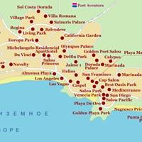Карта курорта Салоу