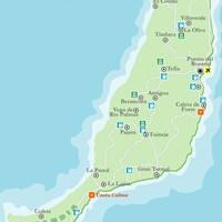 Карта острова Фуэртевентура
