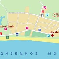 Карта курорта Ла-Пинеда