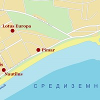 Карта курорта Бланес
