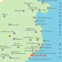 Карта курорта Коста-Брава