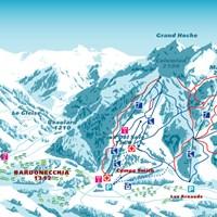 Схема трасс в Бардонеккии (Валь-ди-Суза)