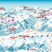 Схема трасс в Валь-ди-Соле (Доломити-ди-Брента)