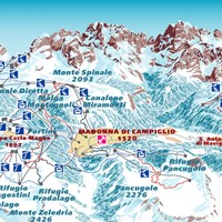 Схема трасс в Мадонна-ди-Кампильо (Доломити-ди-Брента)