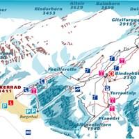Схема трасс в Лойкербаде (Валлис)