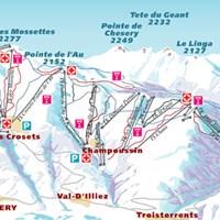 Схема трасс в Шампери (Валлис)