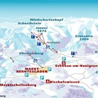 Схема трасс в Берхтесгадене (Баварские Альпы)