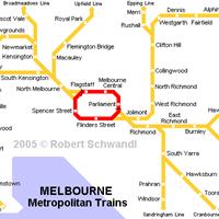 Схема мельбурнского метрополитена