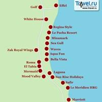 Карта Хургады (Effel - Marriott)