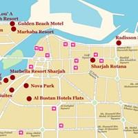 Карта Шарджи