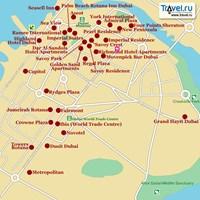 Карта Бар-Дубай